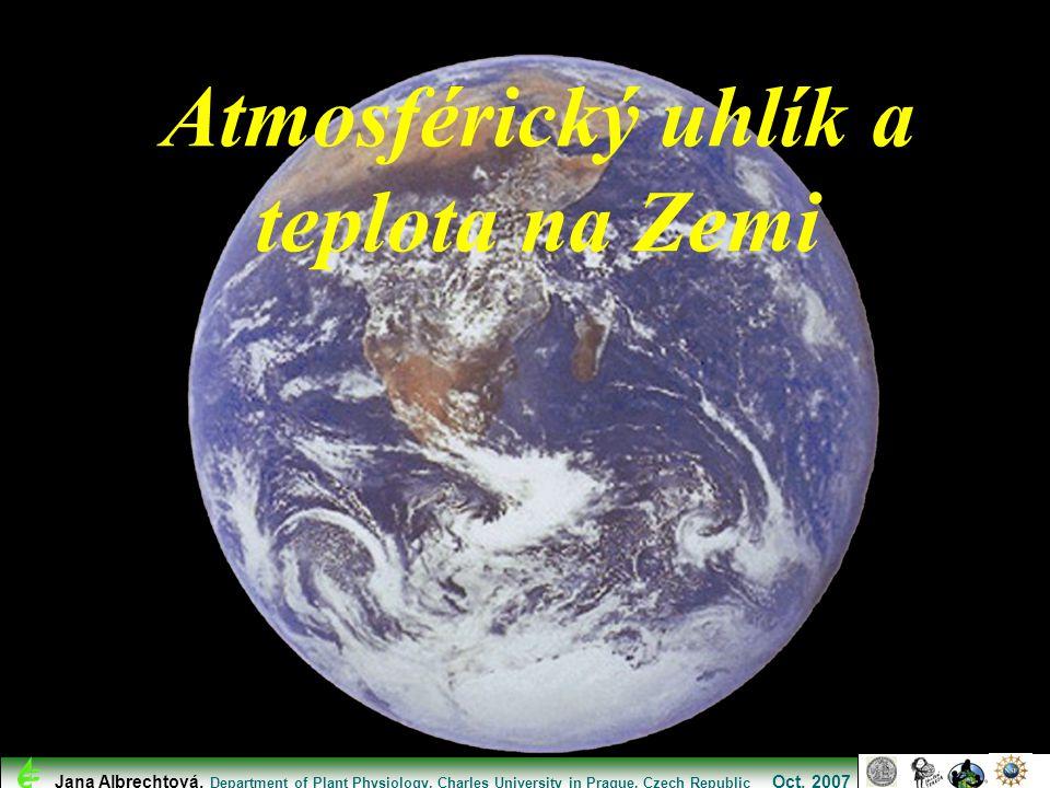 Atmosférický uhlík a teplota na Zemi