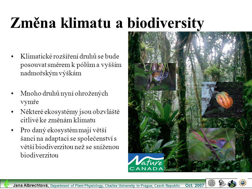 Změna klimatu a biodiversity