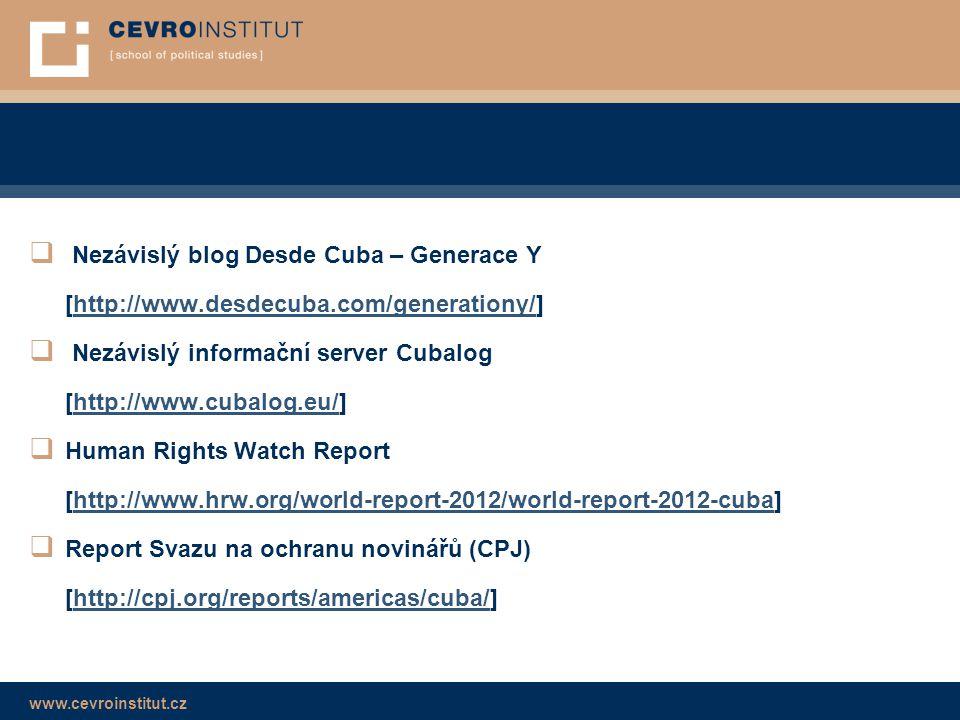 Nezávislý blog Desde Cuba – Generace Y