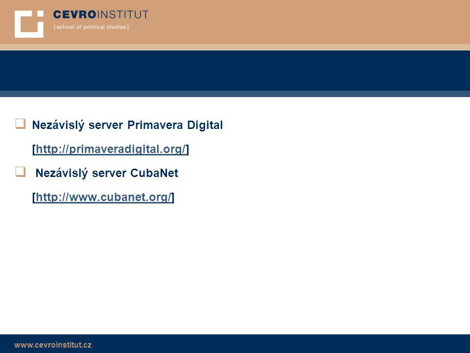 Nezávislý server Primavera Digital