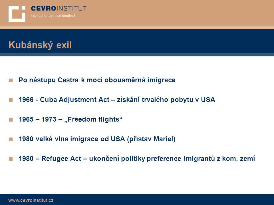 Kubánský exil Po nástupu Castra k moci obousměrná imigrace