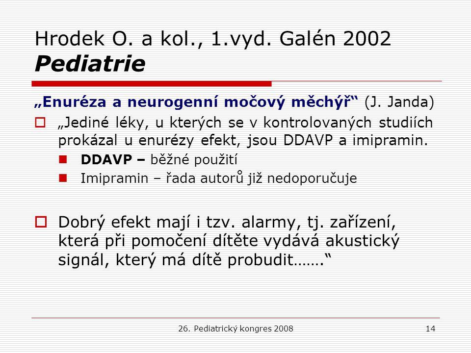 Hrodek O. a kol., 1.vyd. Galén 2002 Pediatrie