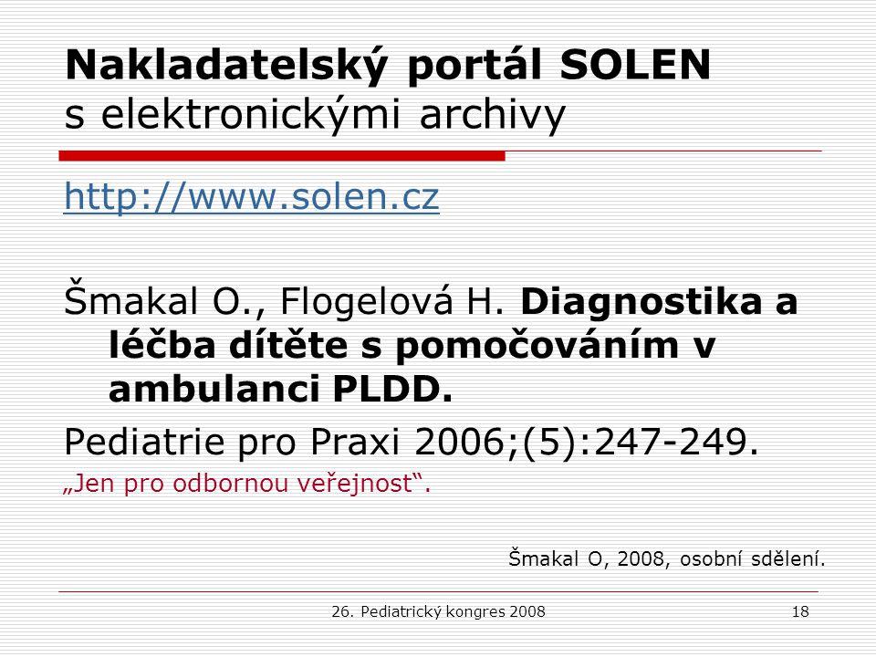 Nakladatelský portál SOLEN s elektronickými archivy