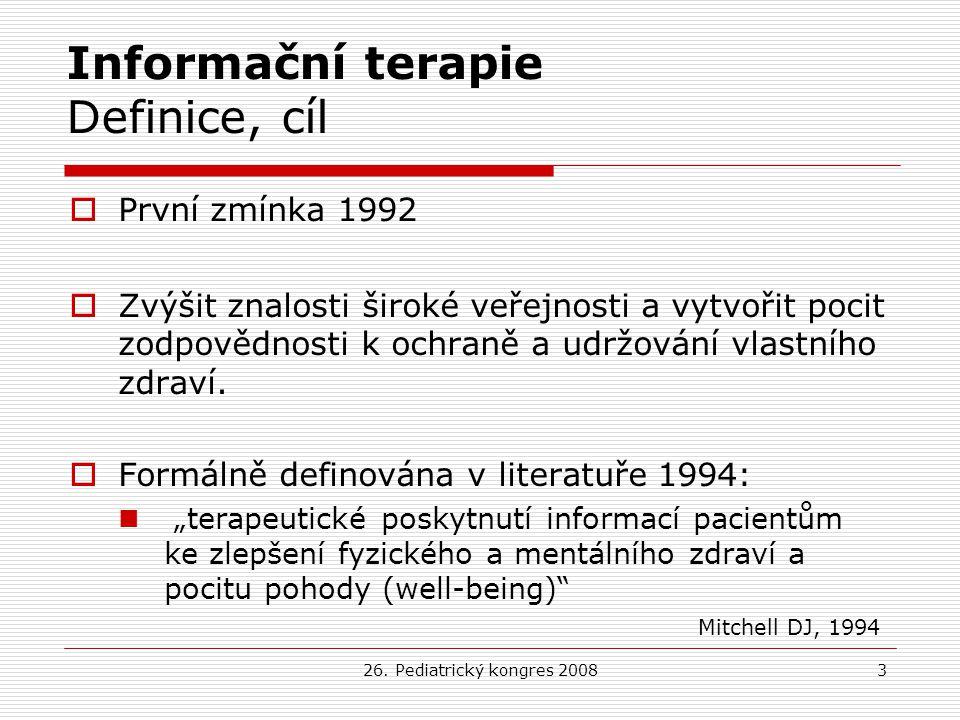 Informační terapie Definice, cíl