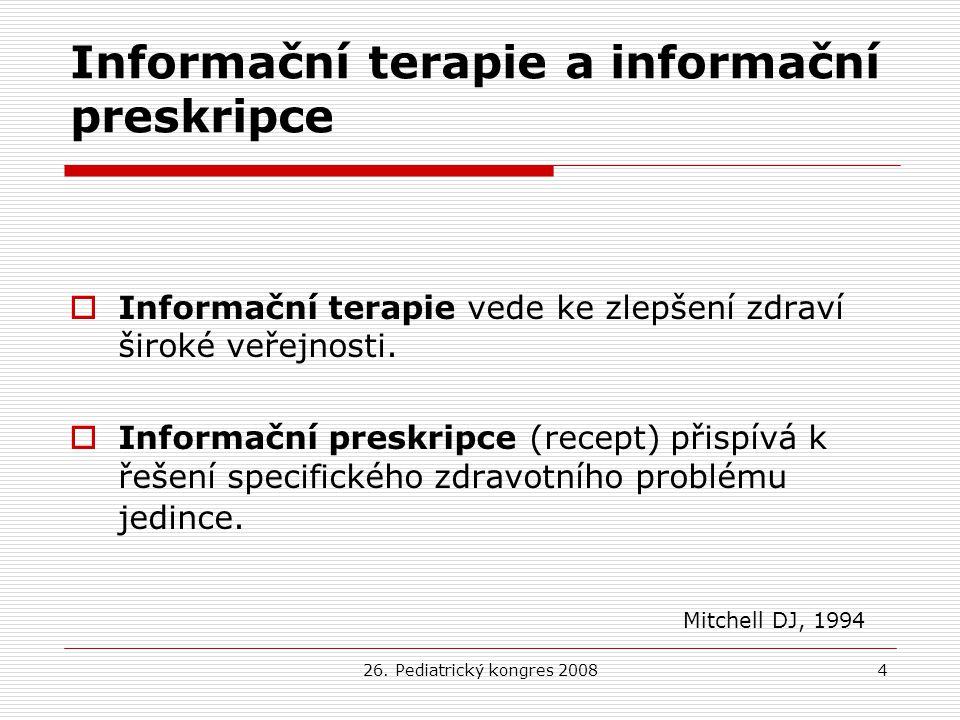 Informační terapie a informační preskripce