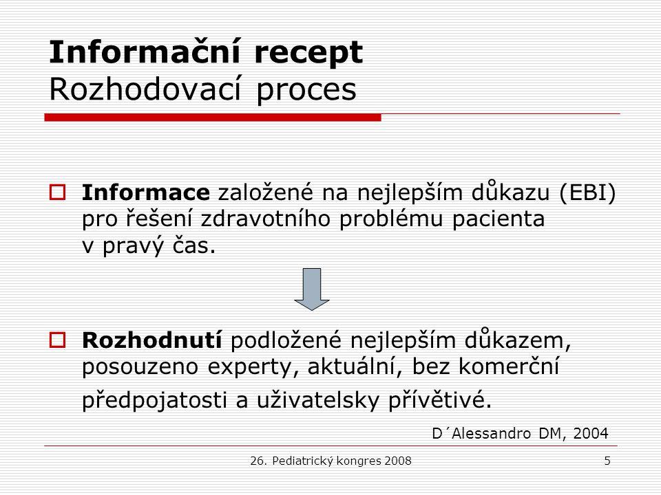 Informační recept Rozhodovací proces