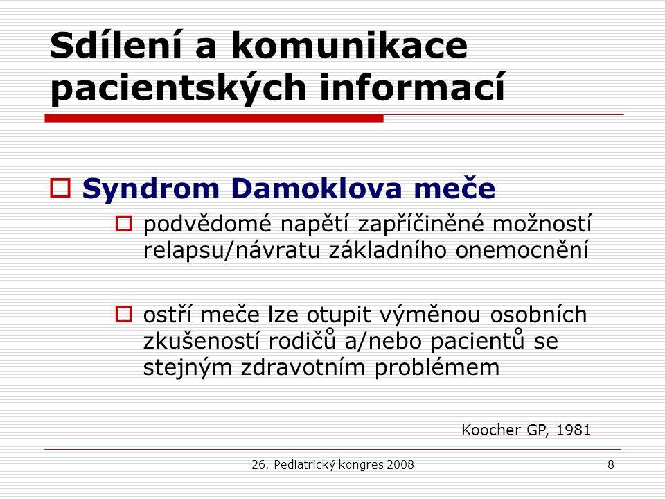 Sdílení a komunikace pacientských informací