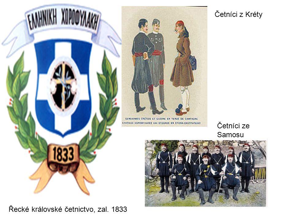 Četníci z Kréty Četníci ze Samosu Řecké královské četnictvo, zal. 1833