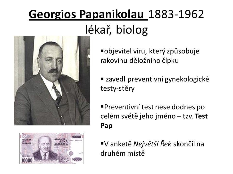 Georgios Papanikolau 1883-1962 lékař, biolog