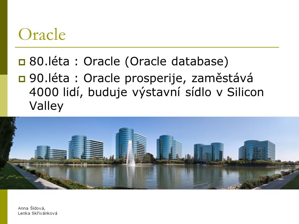 Oracle 80.léta : Oracle (Oracle database)