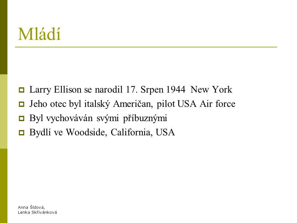Mládí Larry Ellison se narodil 17. Srpen 1944 New York