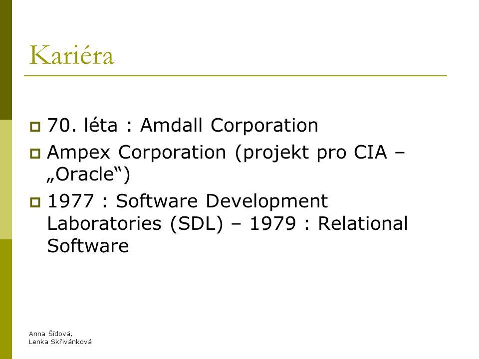 Kariéra 70. léta : Amdall Corporation