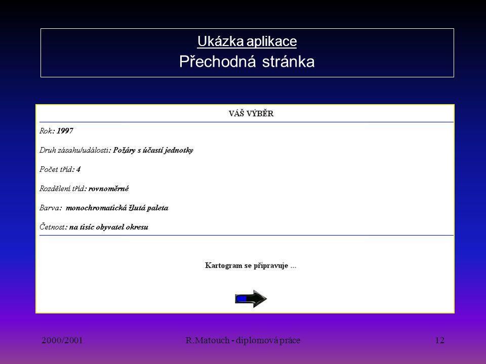 Ukázka aplikace Přechodná stránka