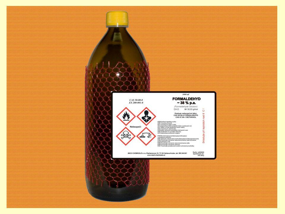 Methanal HCHO Je bezbarvý plyn, ostrého zápachu.