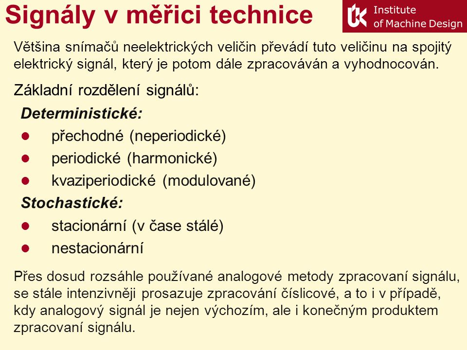 Signály v měřici technice