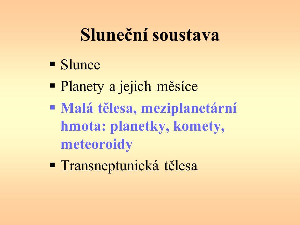 Sluneční soustava Slunce Planety a jejich měsíce