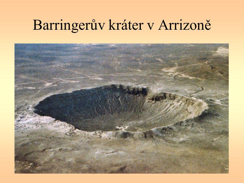 Barringerův kráter v Arrizoně