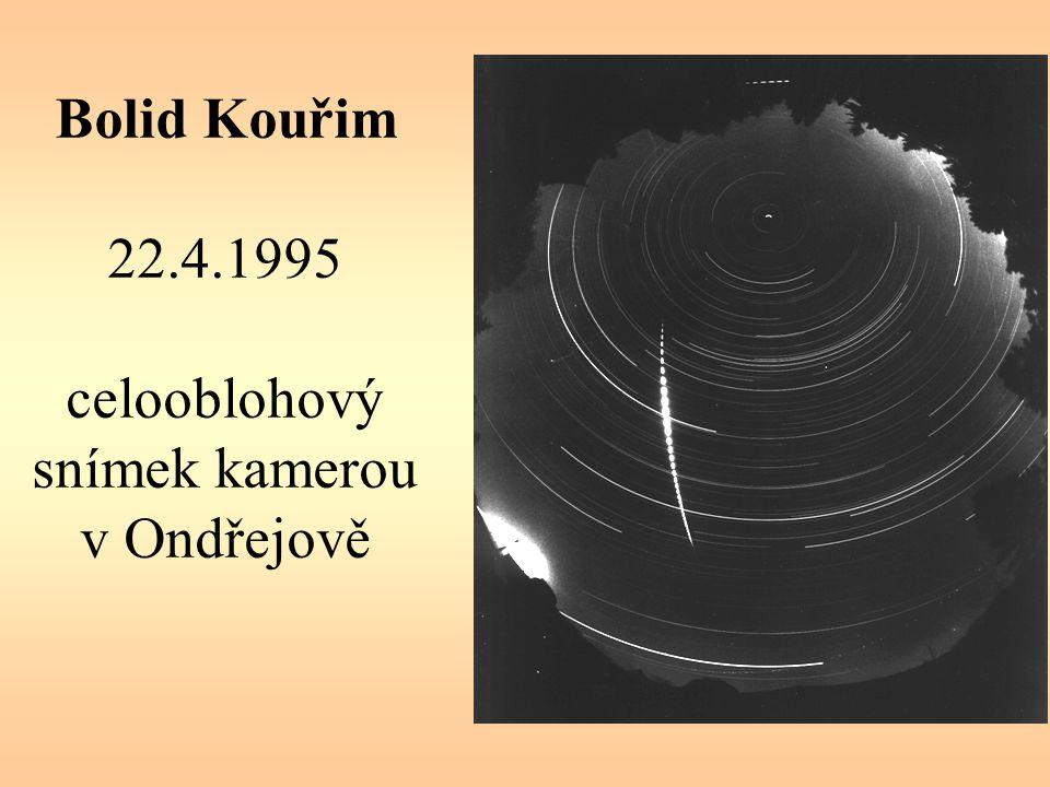 Bolid Kouřim 22.4.1995 celooblohový snímek kamerou v Ondřejově