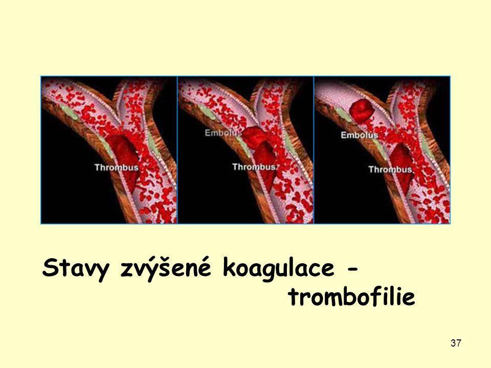 Stavy zvýšené koagulace - trombofilie