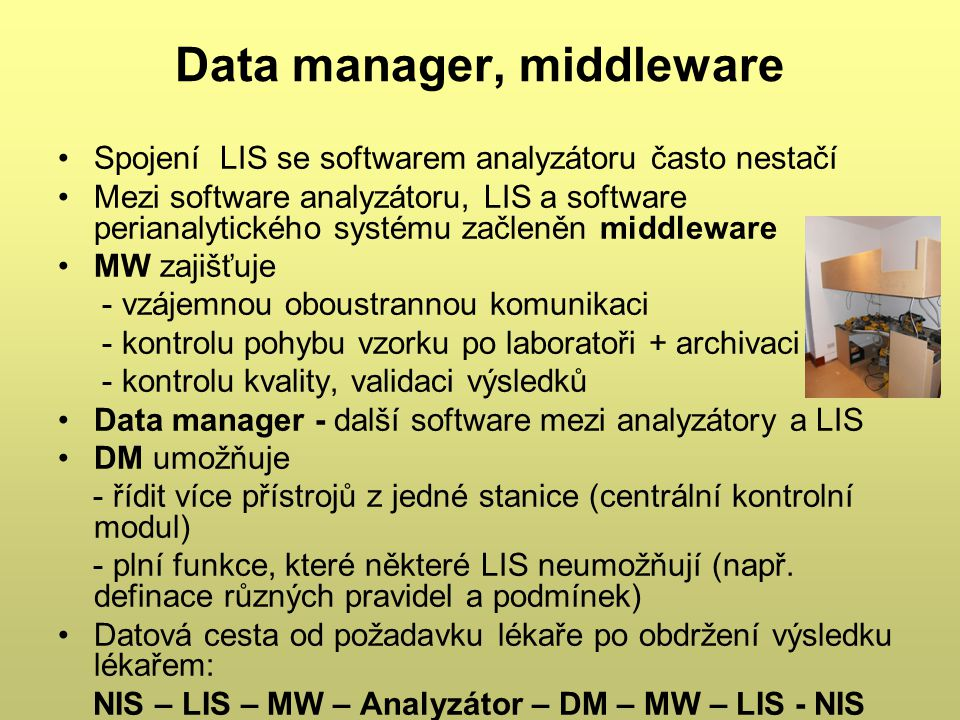 Data manager, middleware