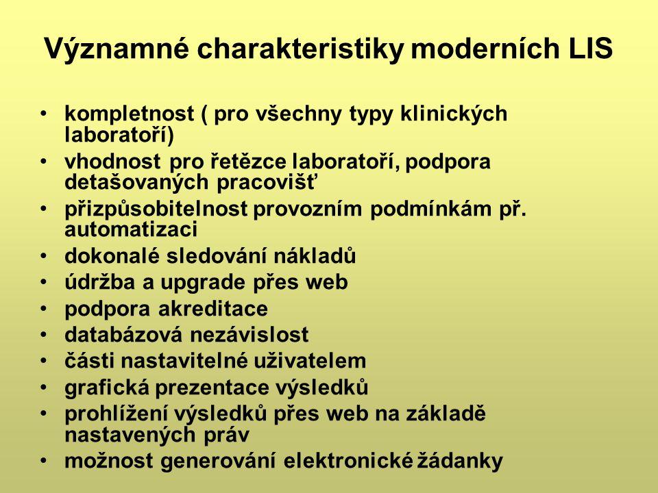 Významné charakteristiky moderních LIS