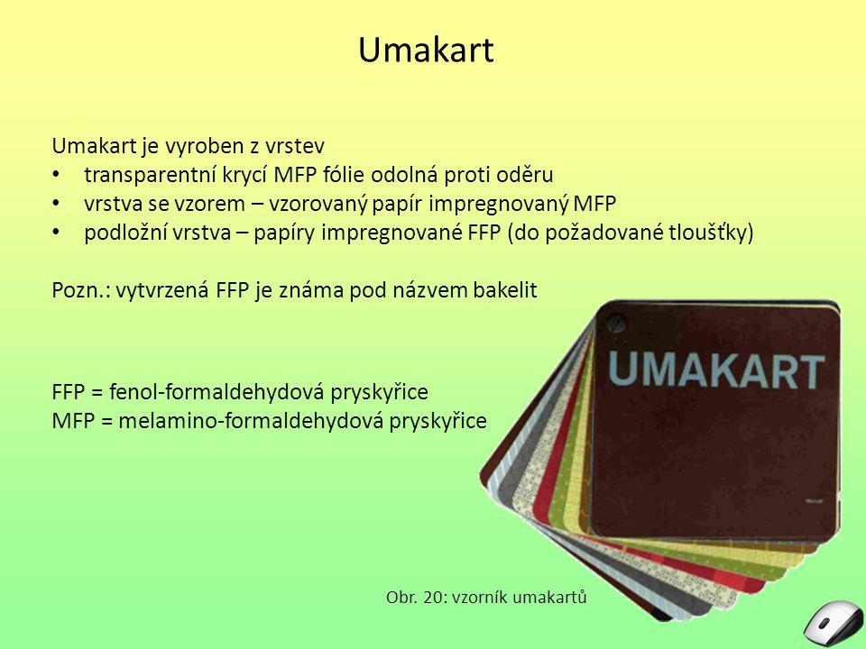Umakart Umakart je vyroben z vrstev