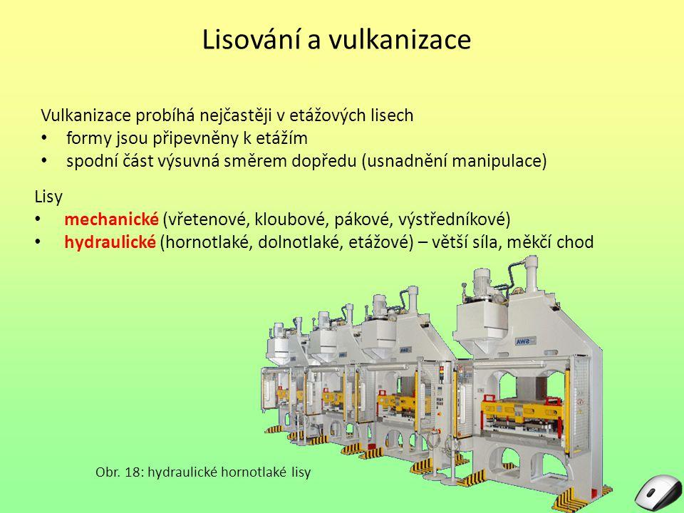 Lisování a vulkanizace