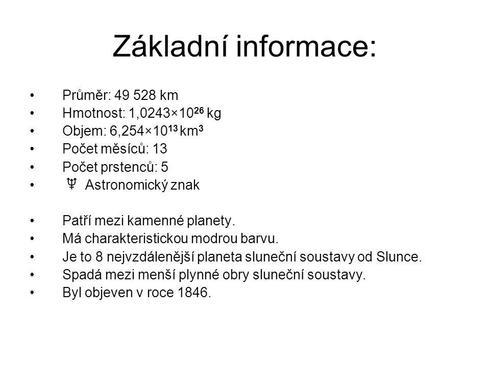 Základní informace: Průměr: 49 528 km Hmotnost: 1,0243×1026 kg