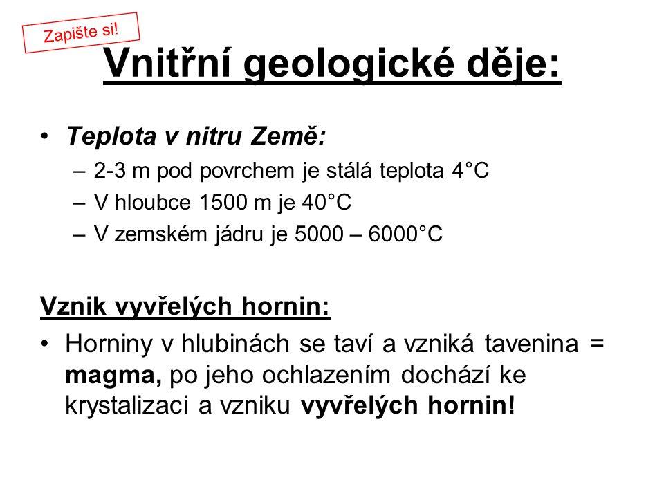 Vnitřní geologické děje: