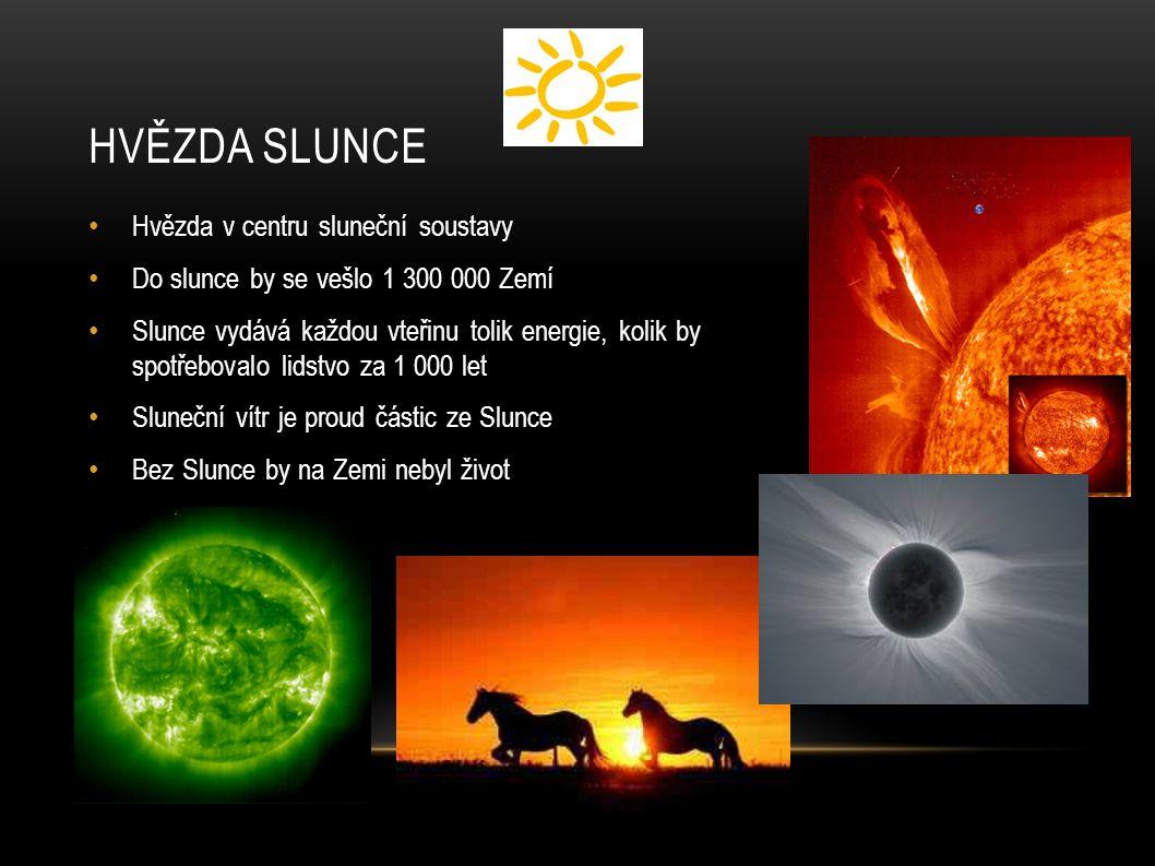 Hvězda Slunce Hvězda v centru sluneční soustavy