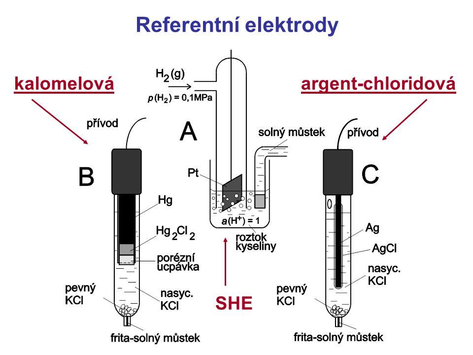 Referentní elektrody kalomelová argent-chloridová SHE
