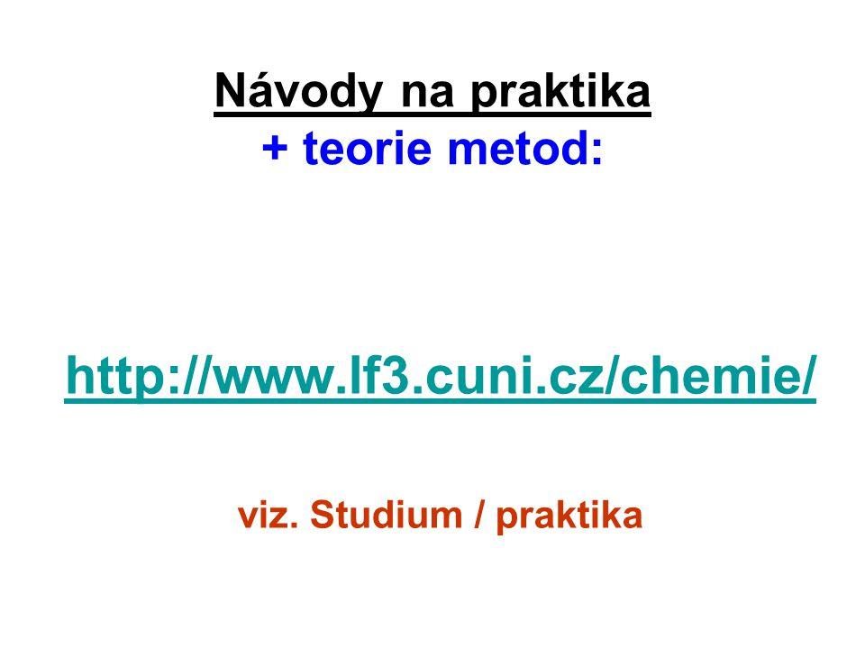 Návody na praktika + teorie metod: