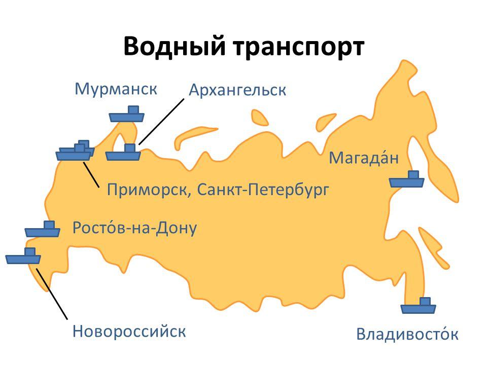 Водный транспорт Мурманск Архангельск Магада́н