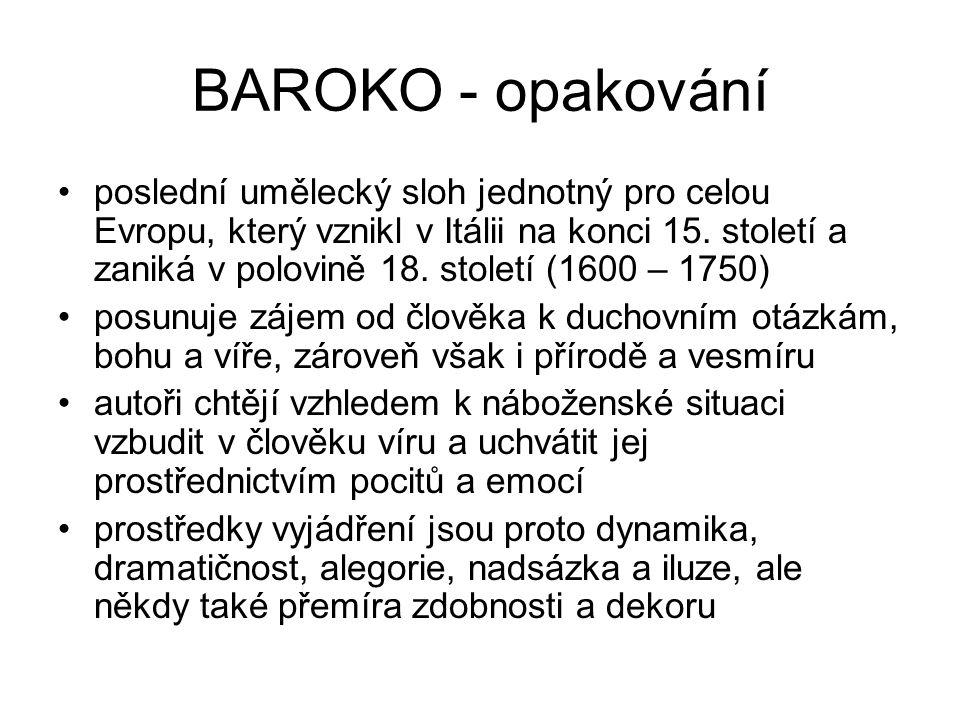 BAROKO - opakování