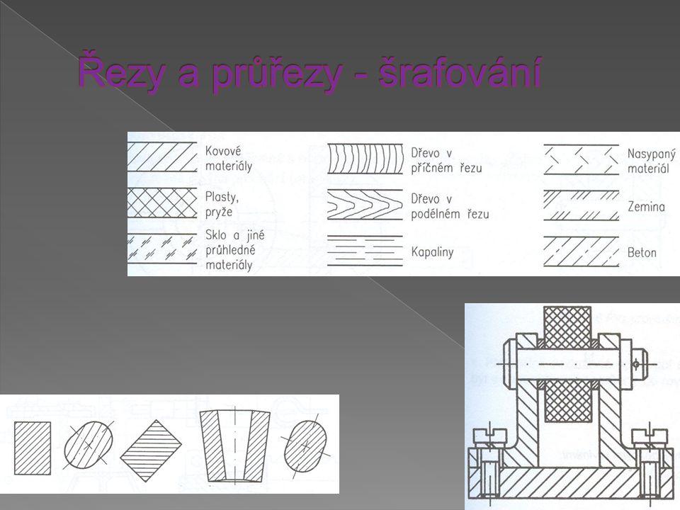 Řezy a průřezy - šrafování
