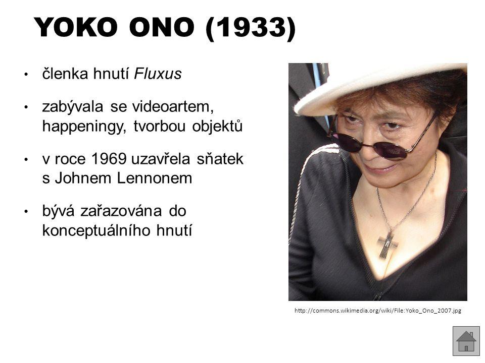 YOKO ONO (1933) členka hnutí Fluxus