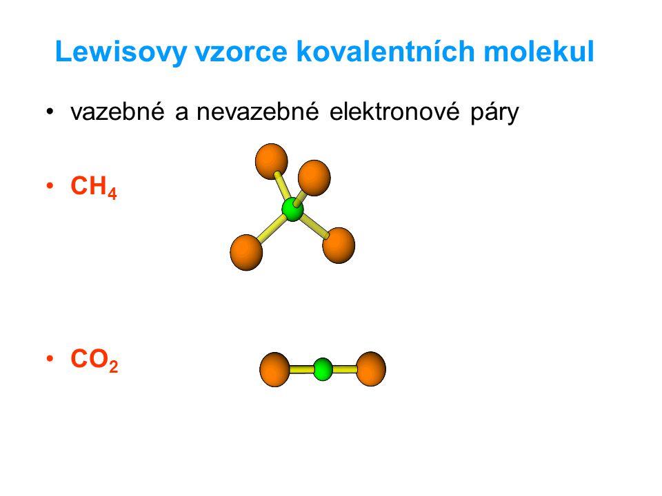Lewisovy vzorce kovalentních molekul