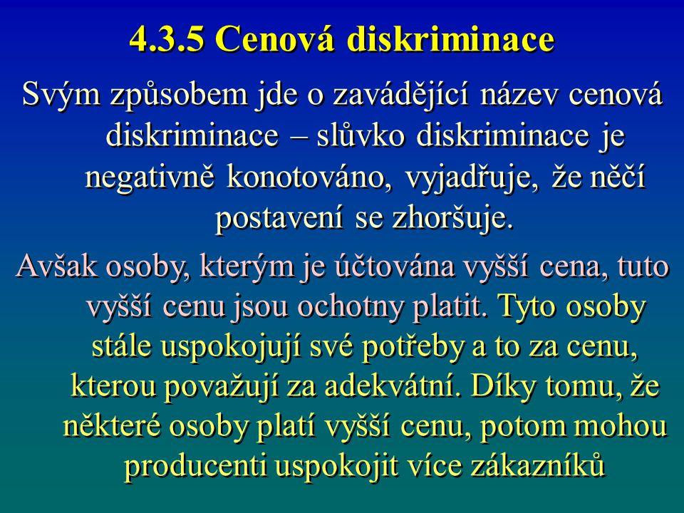 4.3.5 Cenová diskriminace