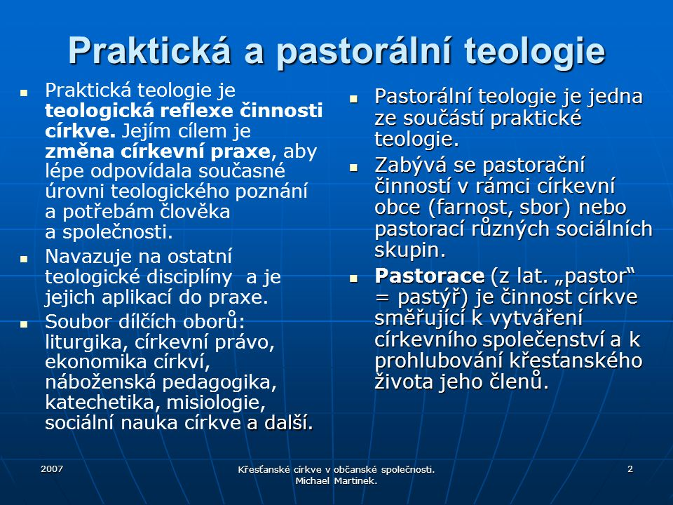 Praktická a pastorální teologie