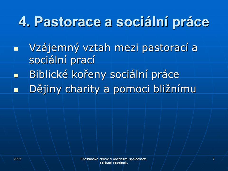 4. Pastorace a sociální práce