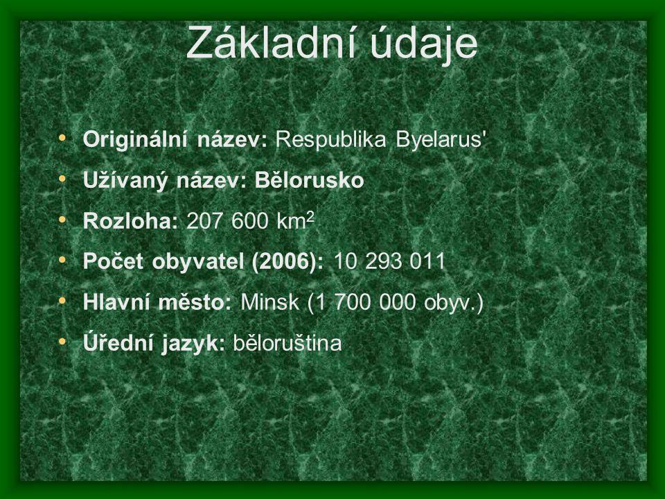 Základní údaje Originální název: Respublika Byelarus