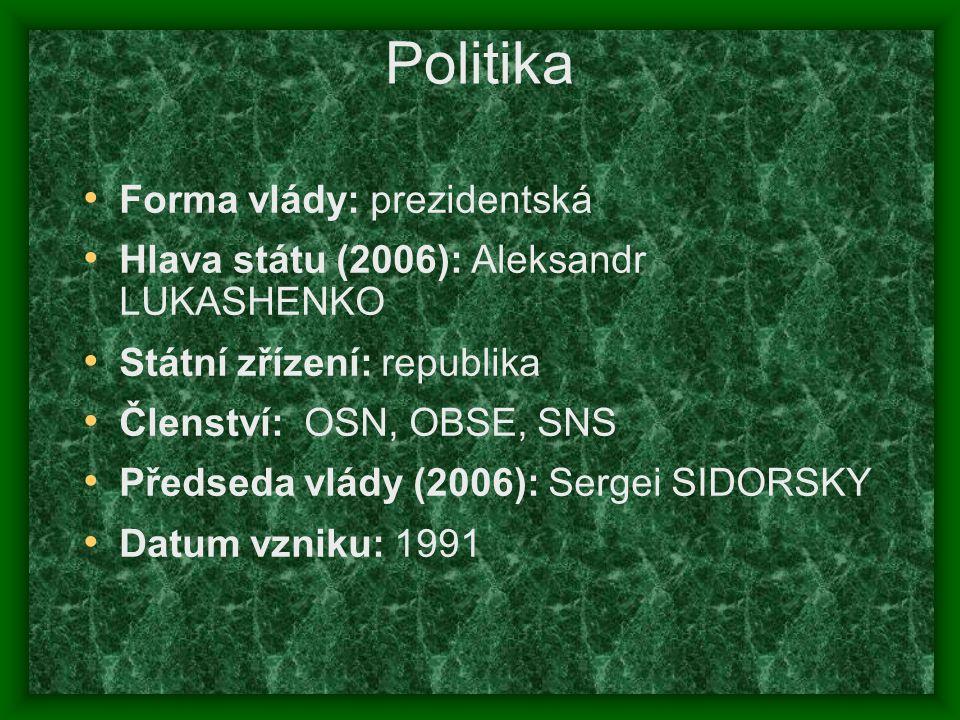 Politika Forma vlády: prezidentská