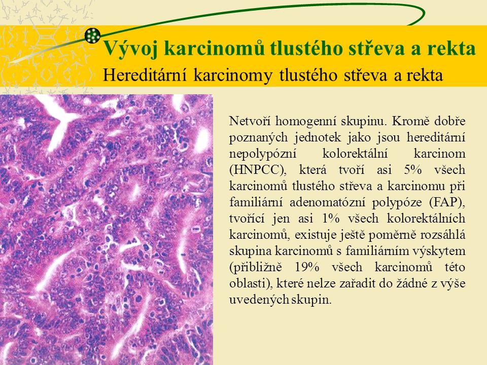 Vývoj karcinomů tlustého střeva a rekta Hereditární karcinomy tlustého střeva a rekta