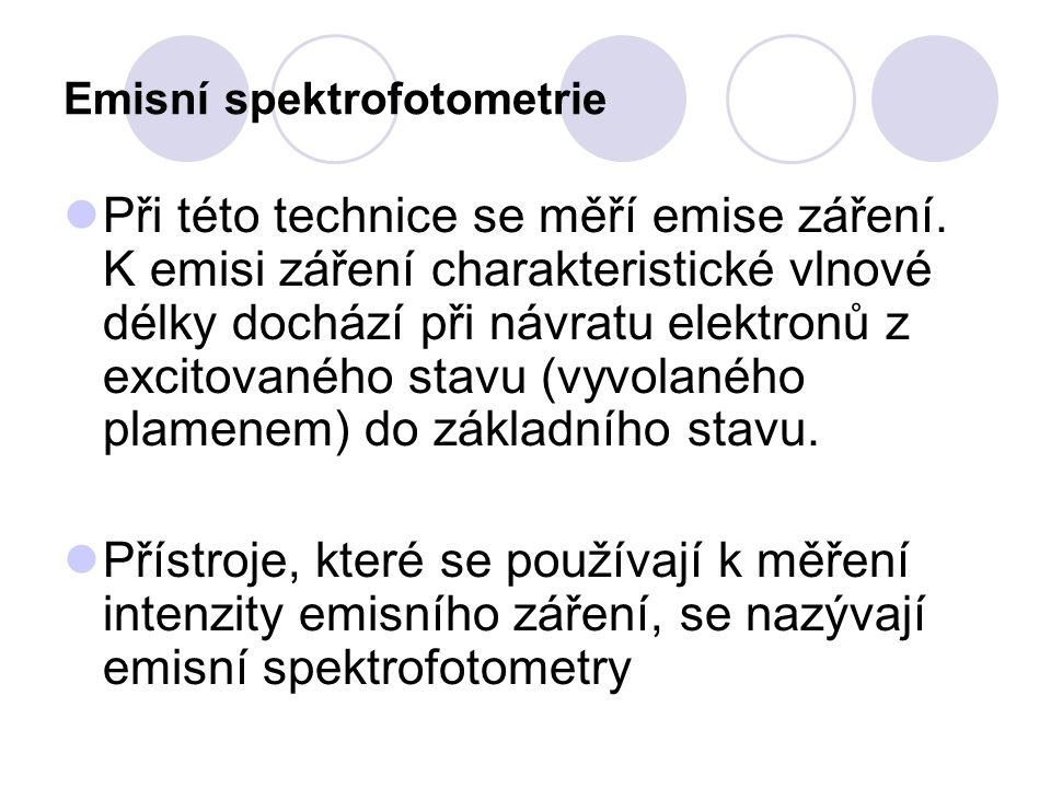Emisní spektrofotometrie