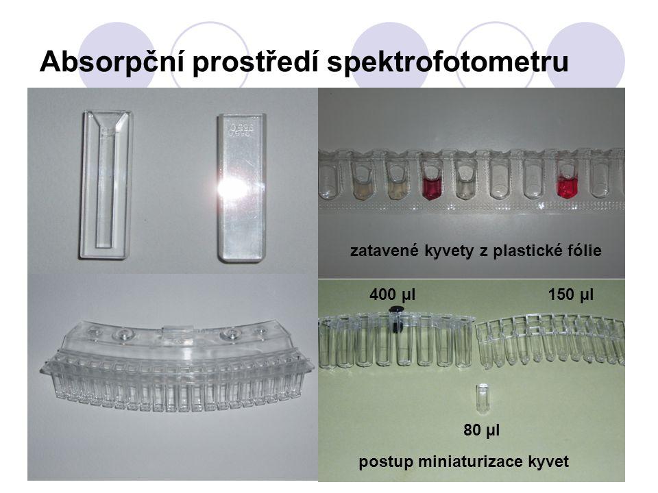 Absorpční prostředí spektrofotometru
