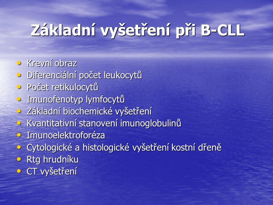Základní vyšetření při B-CLL
