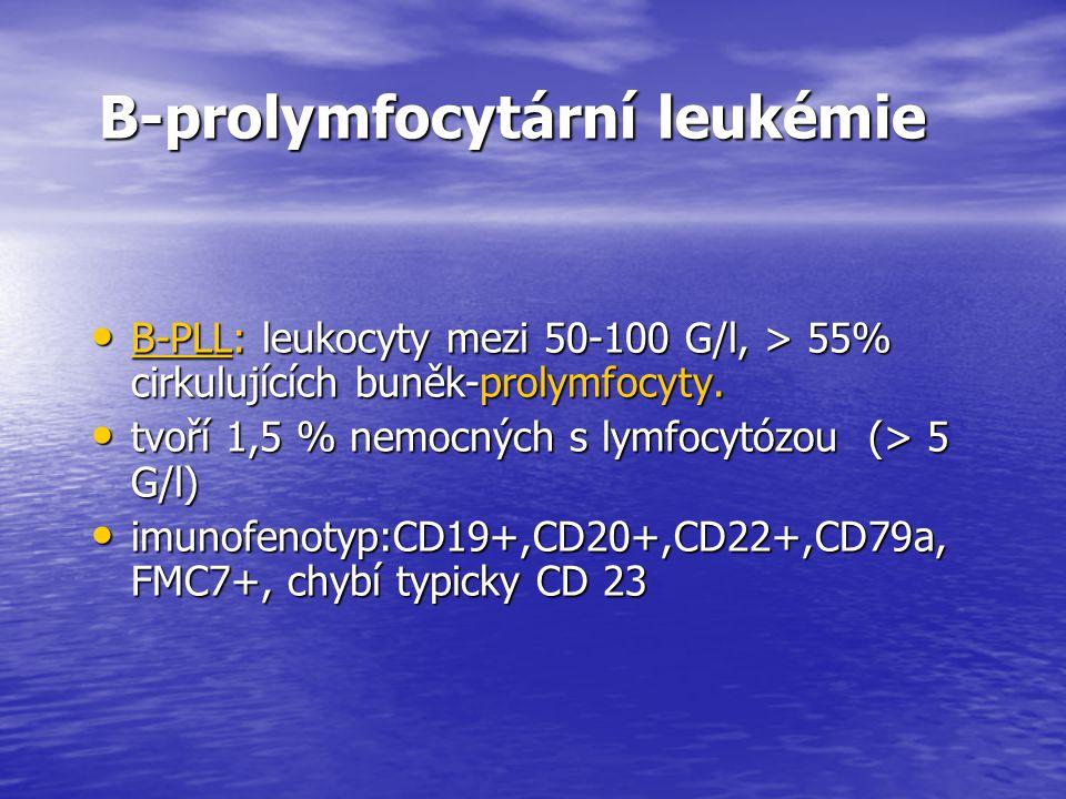 B-prolymfocytární leukémie