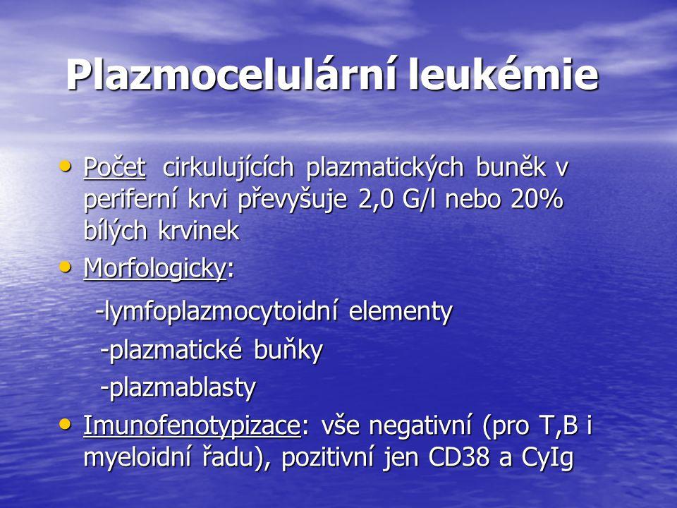 Plazmocelulární leukémie