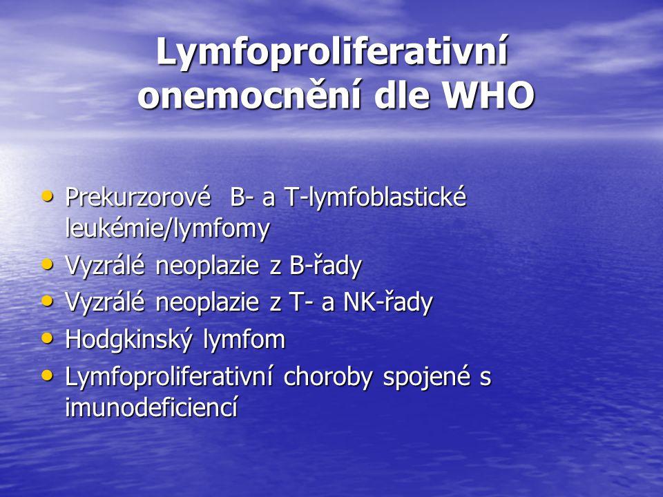 Lymfoproliferativní onemocnění dle WHO