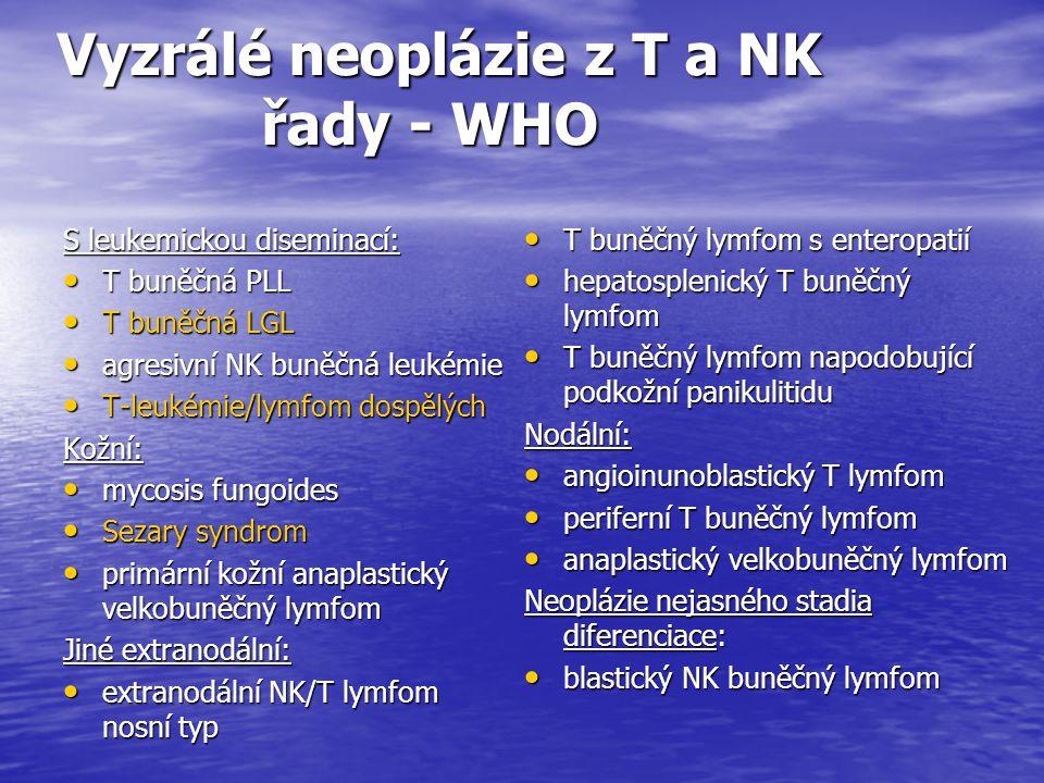 Vyzrálé neoplázie z T a NK řady - WHO
